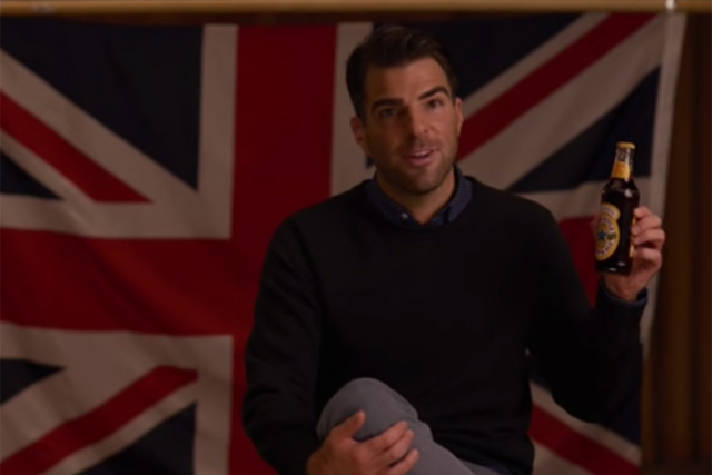 Newcastle Brown Ale: ad stars Zachary Quinto
