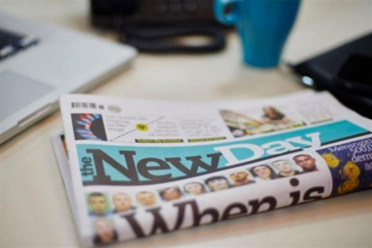 The New Day: sales had not met expectations, Trinity Mirror said
