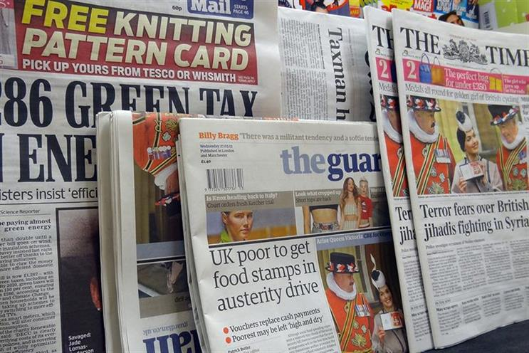 Trinity Mirror print ad revenue falls 21% in Q3