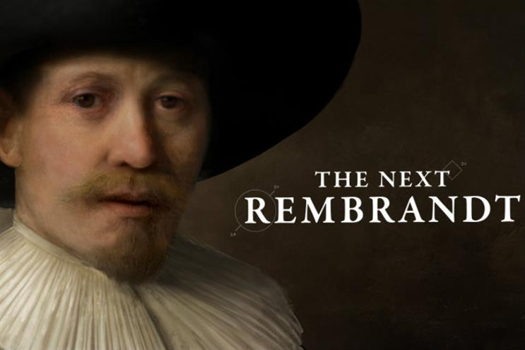 JWT Amsterdam: scooping awards for its 'The next Rembrandt' campaign for ING
