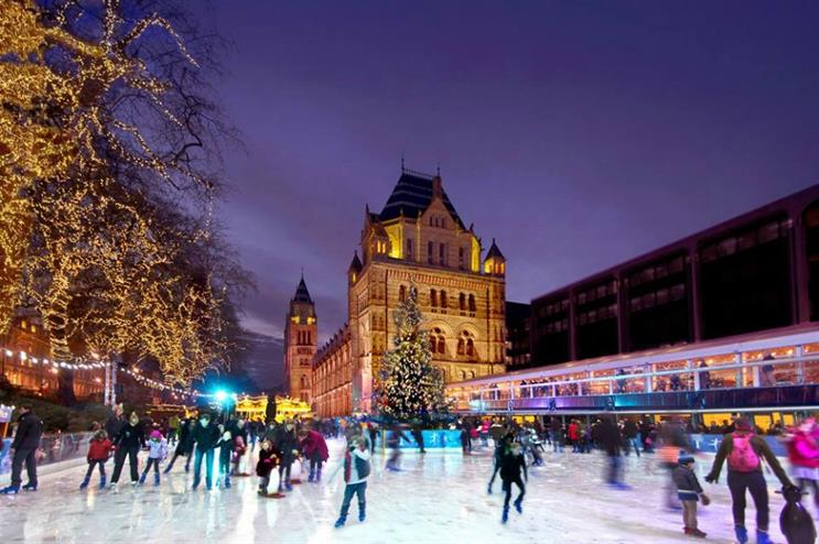 Christmas Ice Skating London.Swarovski To Create Crystal Christmas Tree At Nhm Ice Rink