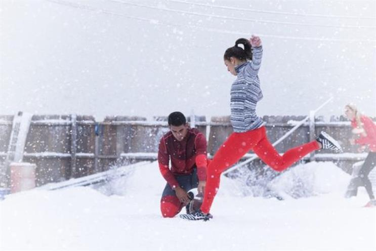 Nike's Snow Day: US footballer Carli Lloyd goes in for the kill