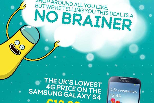 EE: unveils 'no brainer' campaign