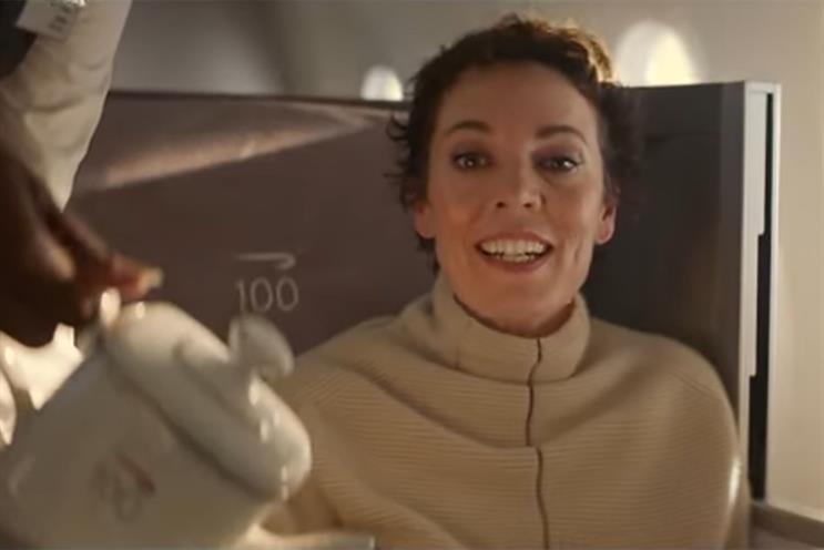 British Airways: ad by Ogilvy, which met the IPA's gender and BAME targets