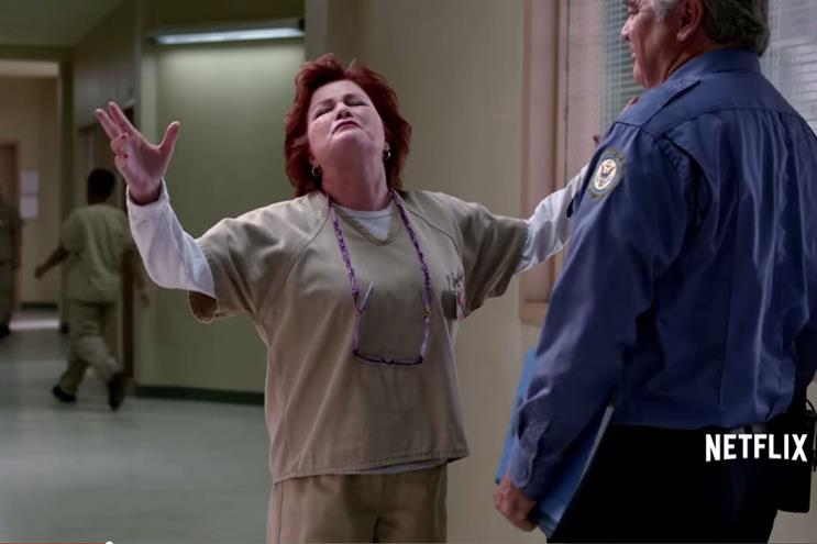 Orange is the New Black: appears twice in this week's chart