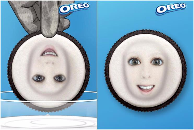 Oreo Squish Lens: one of the lenses that users can unlock