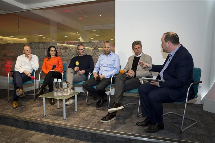 Ozone Project: shareholders speak at Campaign's Digital Media Strategies event last year, including Carter (third from right) and Reeve (second from right)