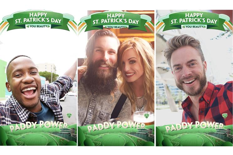 PaddyPower is a brand that's earned a following on Snapchat