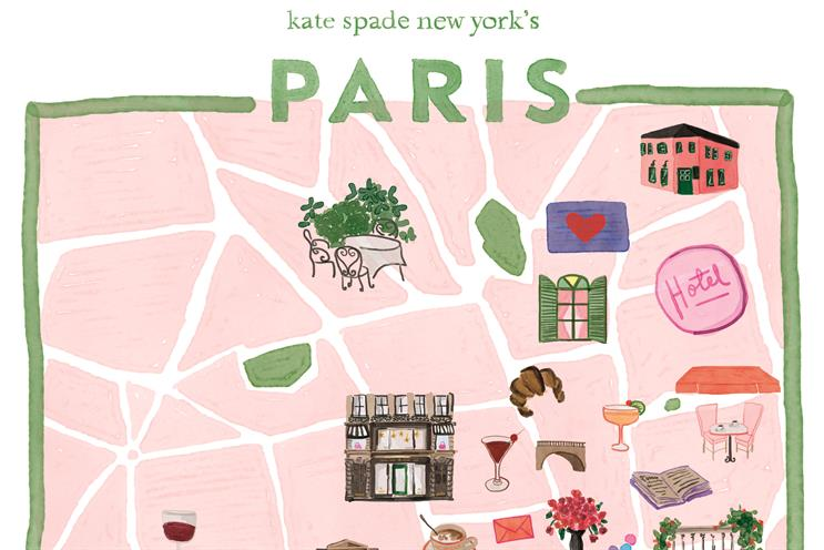Kate Spade brings flamingos and yellow cabs to Paris