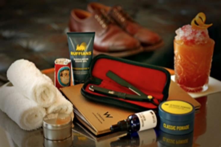 Male grooming parlour pop-up: launched by W Hotel Leicester Square