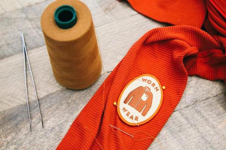 The brand believes repairing garments is a radical act in the age of fast fashion