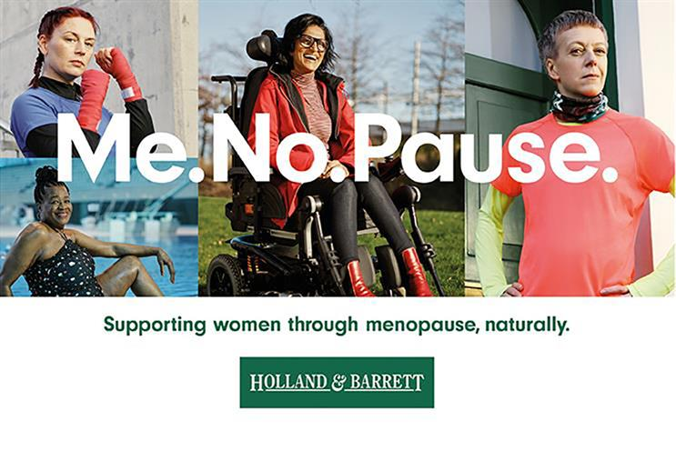 Holland & Barrett: launched 'Me.No.Pause' in January