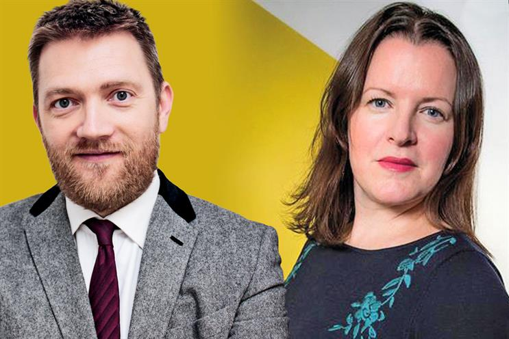 Pearson (l) and Cartwright: joining Sky Media