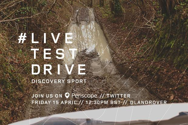 Land Rover has experimented with a live test drive on Twitter's Periscope