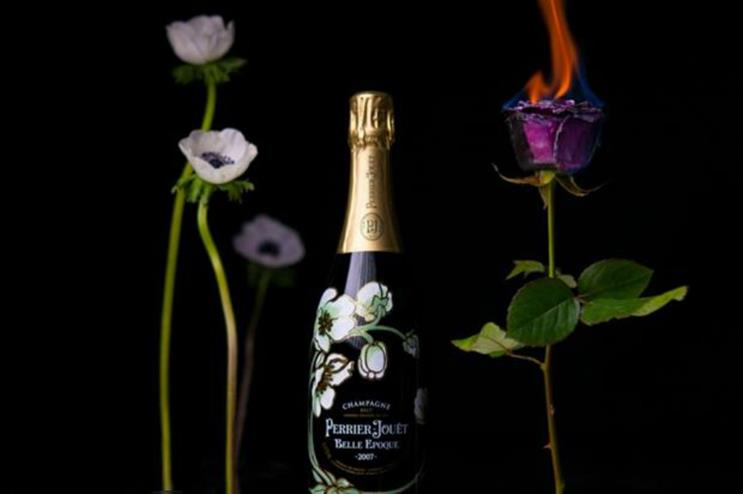 Perrier-Jouët: a colourful flower pop-up shop for Valentine's Day