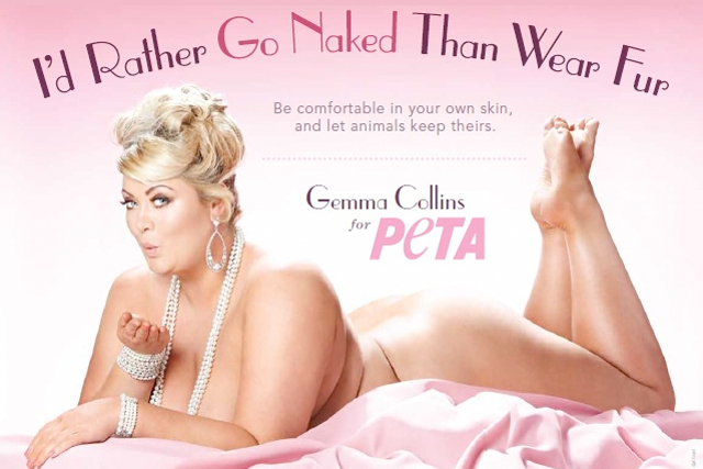 Peta: latest campaign stars Gemma Collins from 'Towie'