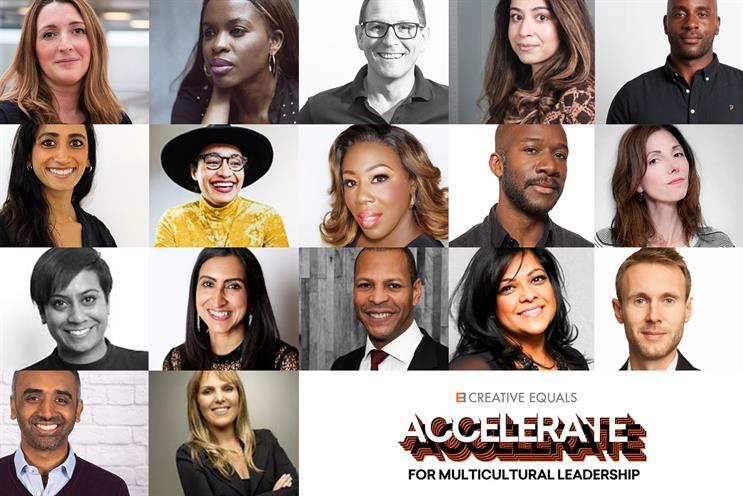 Creative Equals panel includes: Lengthorn, Sarpong, Robinson, Siddiqi, Davis, Alder, Abbassi, Amoah, Myers-Lamptey, Beale, Matadeen, Turner, Carter, Robb, Hutchison, Patel, Santos Farhat