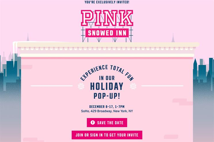 Victoria's Secret creates New York pop-up with large slide and snow globe