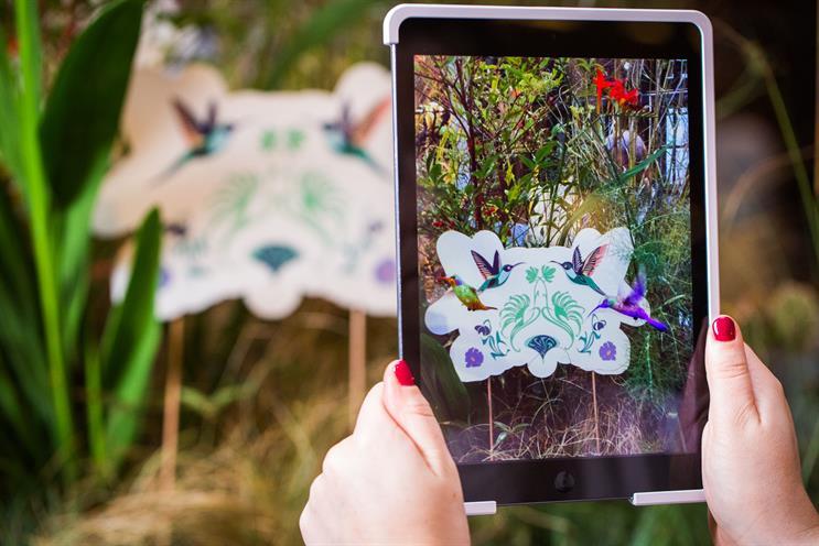 Perrier-Jouët creates interactive garden installation