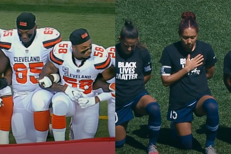 Nike: campaign combined footage of diverse range of sports and people across split screen