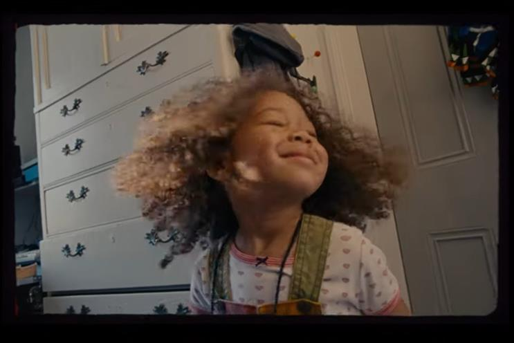 Virgin Media: the protagonist revisits dancing with her dad as a child