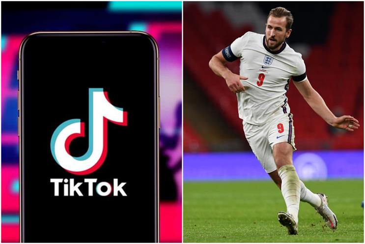 TikTok and Euro 2020: players will include England captain Harry Kane (Image: Neil Hall/Getty)