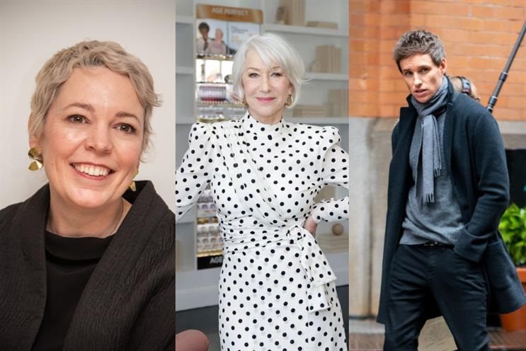 M&S stars: Olivia Colman, Helen Mirren, Eddie Redmayne (Images: Getty)