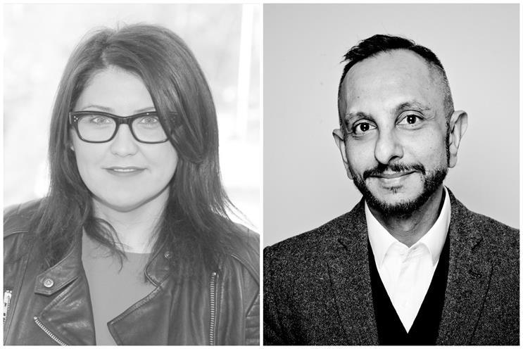 Fiona Lloyd (l) and Sanjay Nazerali promoted at Dentsu