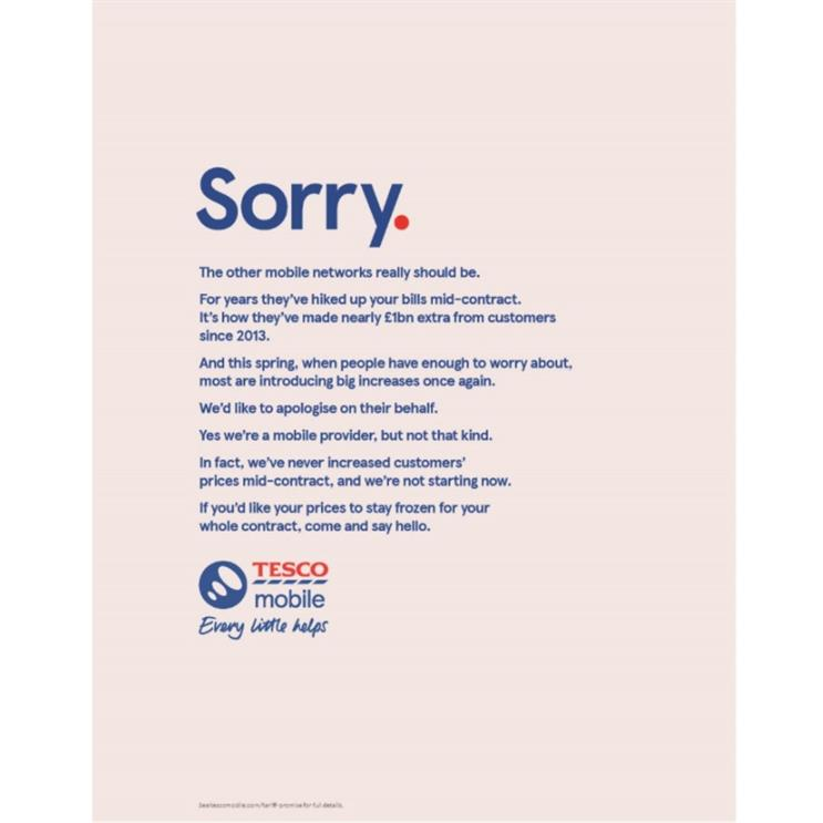 Tesco Mobile: campaign created by BBH