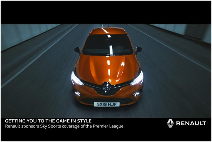 Renault: Premier League Sky Sports sponsorship