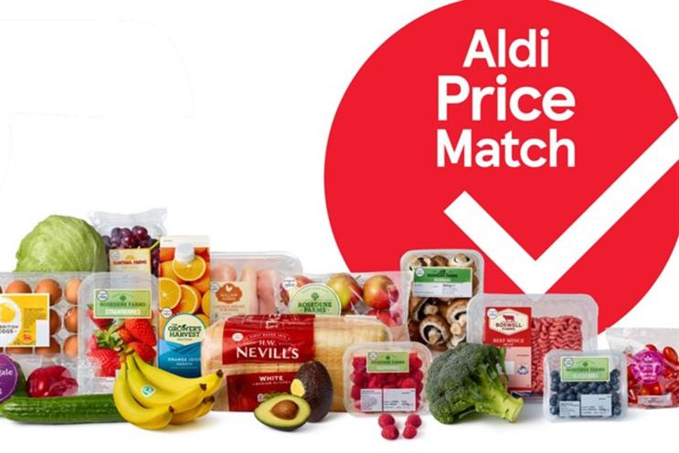 Tesco: hundreds of products will be matched to Aldi prices