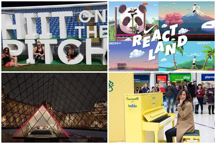 (Clockwise from top left) Chelsea FC, Nike, Belvita and Airbnb experiences could be reimagined