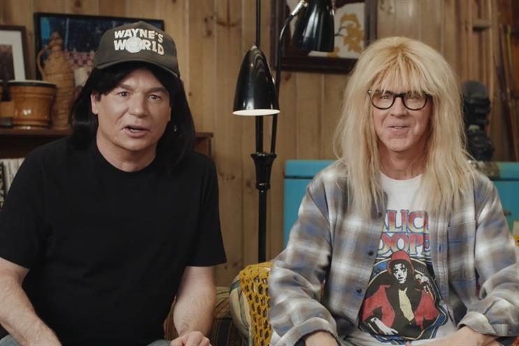 Uber Eats: Wayne's World stars Mike Myers and Dana Carvey featured in brand's Super Bowl campaign
