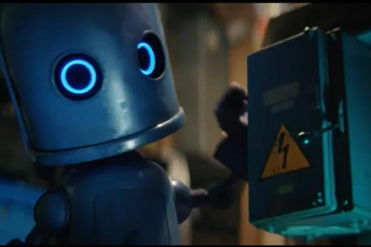 O2: ad features robot mascot Bubl