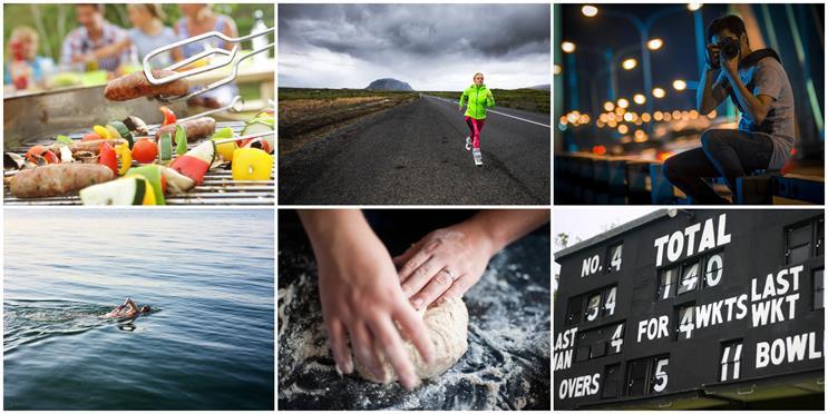 Lockdown activities: BBQing, long distance running, night time photography, swimming, baking, cricket scoring