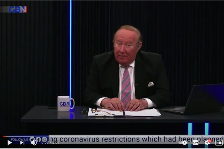Andrew Neil: hosts nightly show on GB News
