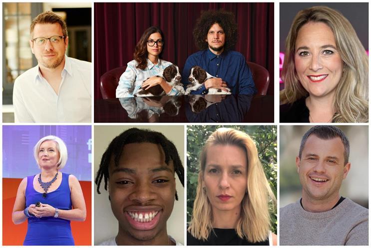 Clockwise from top left: Hawkey, Ana and Hermeti Balarin, Dedman, Kay, Dalairac, Areoye, Everson