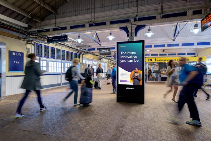 Microsoft: campaign features at several major UK railway stations