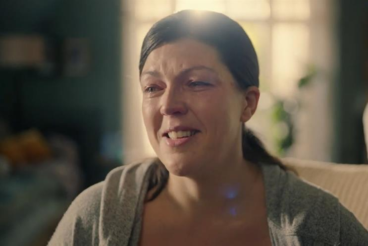The TV spot features a new mother calling her mother