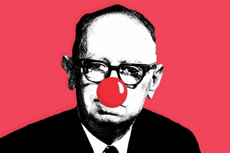 Leo Burnett: hallowed founder of his eponymous agency sporting a red nose