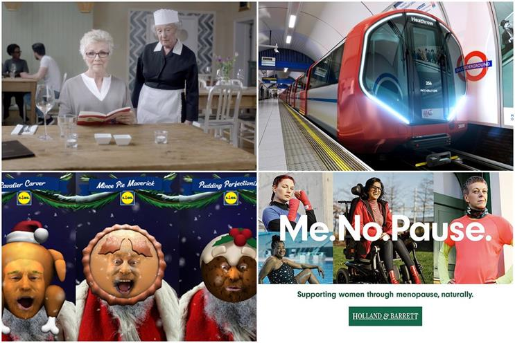 Clockwise from top left: Vision Express, TfL, Holland & Barrett and Lidl