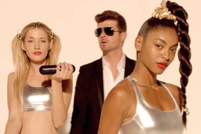 Controversy: Robin Thicke's 'Blurred Lines' music video in 2013