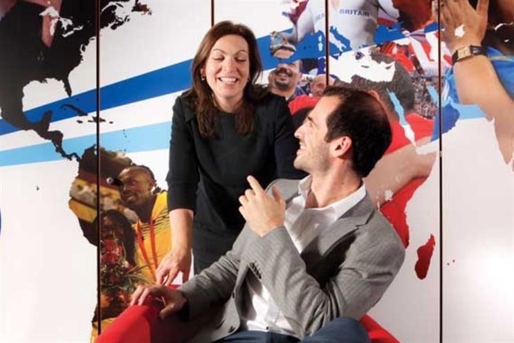P&G's Dan Jalalpour, one of the 2014 Power 100 Next Generation winners, with his mentor Roisin Donnelly