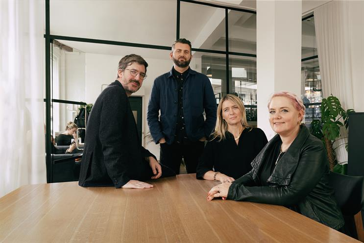 Mr President: chief strategy officer Nick Emmel, executive creative director Jon Gledstone, Hynes and chief creative officer Laura Jordan Bambach