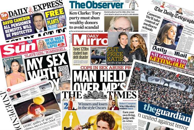 Newspaper ABCs: February 2015 at a glance