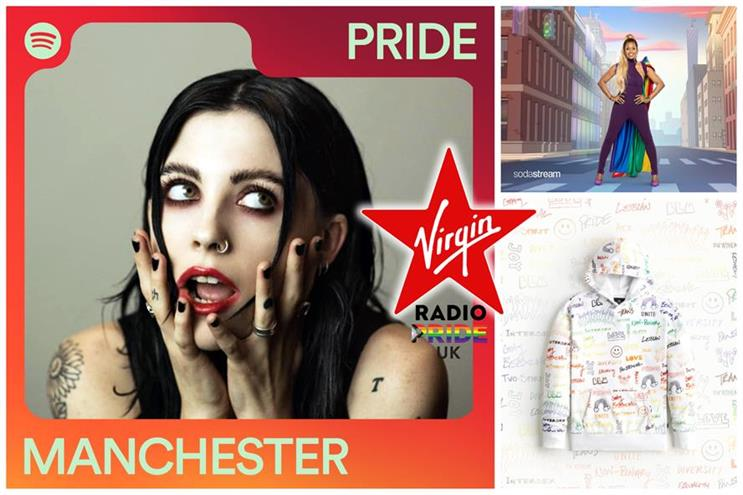 Pride Month: brands including SodaStream, Virgin Radio and Spotify have marked the event