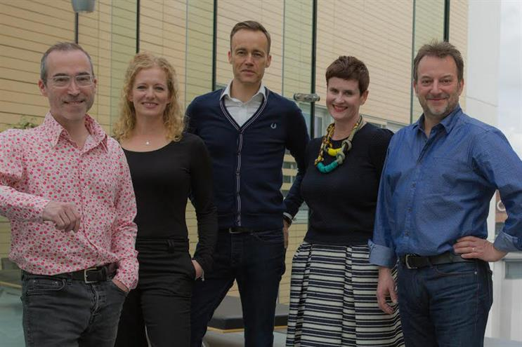 Unlimited Group: (left to right) Matt Hardy, Beth Pope, Peter Brown, Merry Scott Jones (client services director), Ian Bates