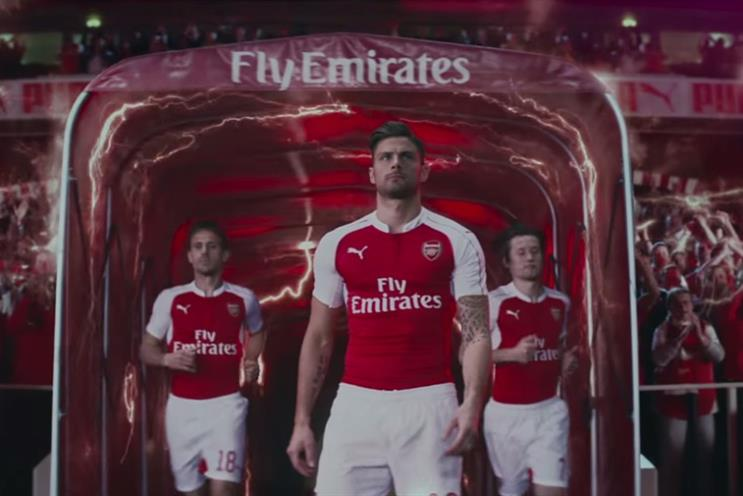 Puma celebrates new Arsenal home kit with  Powered by Fans  705177b8a