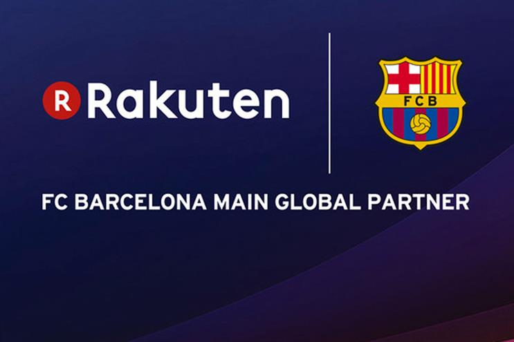 Rakuten: signs deal with FC Barcelona