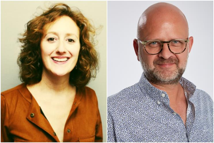 Ludzker and Freeland: will lead merged agency in London
